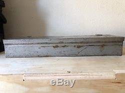 Vintage -v- Craftsman 3/4 Drive Socket Set 44801 Ratchet USA with Metal Box Rare