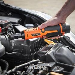 VonHaus Cordless Electric Ratchet Wrench Set with 12V Lithium-Ion Battery and