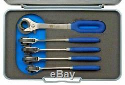 Welzh Werkzeug Ratcheting Brake Pipe Spanners 5-Piece Set 8,9,10,11,12mm