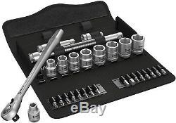 Wera 05004051001 8100 SB 11 Zyklop Metal Ratchet Set, 3/8 Drive, Imperial