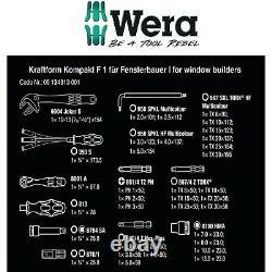 Wera 35 Piece Wrench Screwdriver Ratchet & Hex Key Set Kraftform Kompakt 134013
