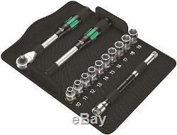 Wera 8006 SC 1 Zyklop Hybrid Ratchet Set 1/2 Drive Metric 05004090001