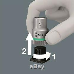 Wera 8100 SB 11 Zyklop Metal Switch Socket Wrench Set 3/8 Drive SAE 05004051001