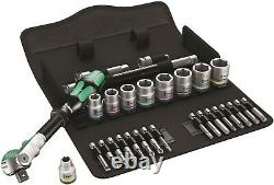 Wera 8100 SB 9 Zyklop Speed Ratchet Set 3/8 Drive SAE 28 Piece 05004049001
