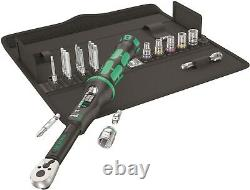 Wera A6 Click-Torque Wrench Set 2.5 to 25 Nm 1/4 Drive 20 Piece 05130110001