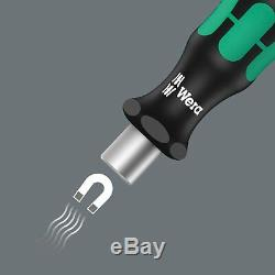 Wera Tool Check Mini Ratchet Screwdriver Socket Wrench Bit 1/4 Metric Set 39 Pc