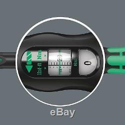 Wera Tool Click-Torque Wrench 2.5-25 Nm Socket Bit 1/4 Drive A6 Set 1 20 Pc