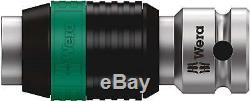 Wera Tool Ratchet Wrench Socket Zyklop Speed 1/4 Extension Bit Set 26 Pc Metric