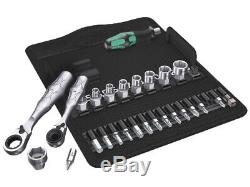 Wera Tool Socket Wrench 2 Mini Ratchet Screwdriver Bit Matric Set 27 Pc