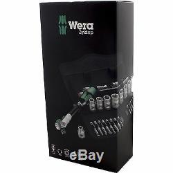Wera ZYKLOP RATCHET WRENCH SET WERA004046 3/8 Inch 29Pcs, 72 Teeth German Brand
