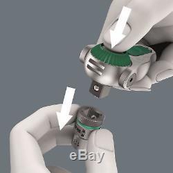 Wera Zyklop Ratchet Wrench Socket Bit Set Combination 1/4 Drive Matric Suitcase
