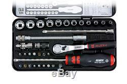 Wurth Zebra Genuine 1/4 socket wrench dust free ratchet 34 PC Tool Set Mechanic