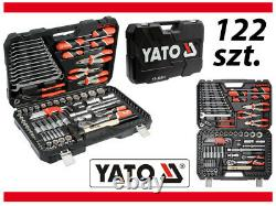 Yato Ratchet Wrench Socket Screwdrivers Spanners Tools Complete DIY Set 122pcs