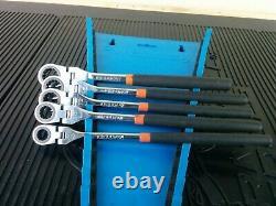 #aj428 Matco 5 Piece Metric Flex Ratcheting Wrench Set