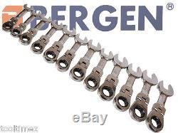 12 Flexi Stubby Engrenage À Cliquet Combinaison Clé À Molette Ensemble Flexible Outil A1903