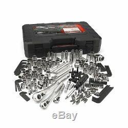 230 Piece Complète Artisan Mécanicien Tool Set Cliquet Kit De Garage Clé À Douille