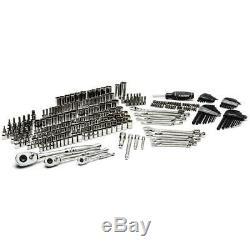 270-piece Mécanique Husky Jeu D'outils W Case Sae Métriques Douilles Clés Kit De Réparation