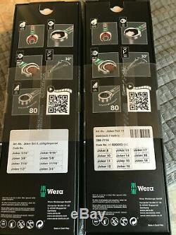 2 X Wera Joker Clips Combi Spanner Sets-11 Métrique Pce Et 8 Pce Bnib Impérial