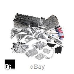 444 Piece Mécanique Craftsman Set Clé À Douille Pouces Ratcheting / Métriques 500