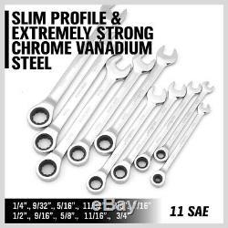 48pc Clé À Cliquet Combinaison Spanners Clé Allen Kit Métrique 6-18mm Sae 1 / 4-3 / 4