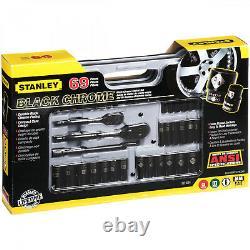 69 Pcs Mécanique Ensemble D'outils Stanley Clé Cliquet Combinaison Outils À Main Socket