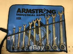 Armstrong 25-667 9 Piece 12 Point Complet Combinaison Polonaise Ratcheting Jeu De Clés
