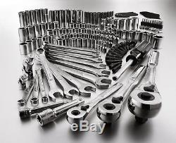 Artisan 165 Pc. Jeu D'outils De Mécanique Coffret De Clés À Cliquet À Douille Métrique