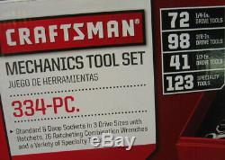 Artisan 334 Pc. Mecaniciens Outil Set Avec Ratcheting Peigne. Clés, Douilles Torx