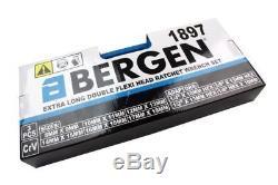 Bergen 10pc Long Double Flexi Tête Clé À Cliquet Clé Set 8-19mm B1897