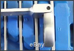 Bgs Allemagne Métrique Combi Flexi Head 90 Clé À Cliquet Clé En Satin Set 8mm-19mm