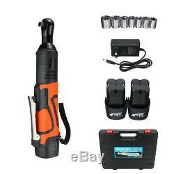 Clé À Cliquet Électrique Sans Fil 3/8 18v 60n. M Tool Set + 2pcs Kit De Batterie