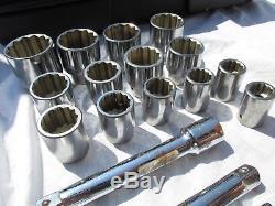 Clé À Douille D'entraînement Craftsman, 18 Pièces (pouces), À Cliquet, Vl- 44804 USA