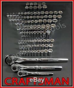 Craftsman 119pc 1/4 3/8 1/2 Dr Sae & Metric MM 6pt 12pt Douille Clé À Cliquet Ensemble
