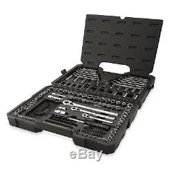 Craftsman 165pc Mécanicien Outil Set Standard Métrique Cliquet Argent Kit Clé Cas