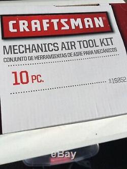 Craftsman Air Set 10 Pièces D'impact Clé À Cliquet Kit Mécanique Avec Étui Rigide