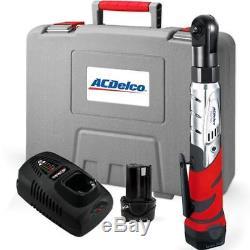 Ensemble D'outils À Clé À Cliquet 3/8 Sans Fil Acdelco 12 V Robuste Avec Batterie 2li-ion