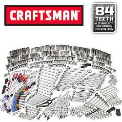 Ensemble D'outils De Mécanicien De 540 Pièces Craftsman Avec Clé À Rochet À Cliquet 84t Nouveau