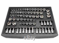 Ensemble D'outils De Mécanique Husky Clés À Douille À Rochet Pour 72 Dents, Chrome (268 Pièces)