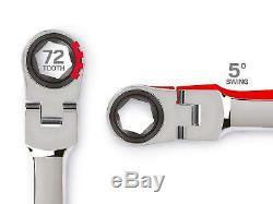 Ensemble De 4 Clés À Cliquet À Tête Flexible Extra-longue Avec Dispositif De Rangement Tekton