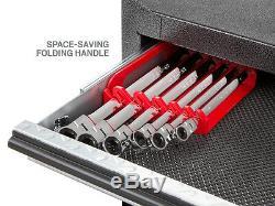 Extra Long Flex-head Ratcheting Box End Wrench Set, Métrique, 6-pièces