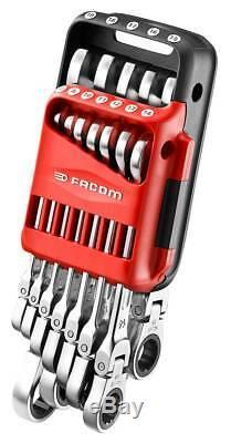 Facom 467bf. Jp12 12 Piece Flexi Head Anti-slip À Cliquet Combinaison Spanner Set