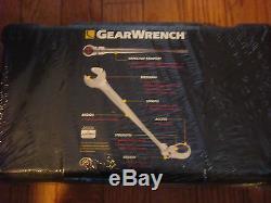 Gearwrench 85298 Ensemble De 9 Clés Combinées À Cliquet À Tête Flexible X Sae X-beam