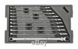 Gearwrench 86126 10 Pc. 120xp Spline Métrique XL Flex Ratcheting Clé Set