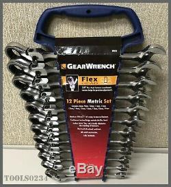 Gearwrench 9901d 12 Pc. 12 Points Flex Head Set Combo Ratcheting Métrique Clé