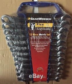 Gearwrench 9901d 9901 Jeu De Clés À Cliquet Métriques À Tête Flexible, 12 Pièces
