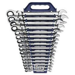Gearwrench Kdt9902 16 Pc. Metric Flex Head Combination Ensemble À Cliquet Nouveau