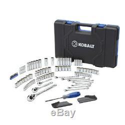 Kobalt Jeu D'outils De Mécanicien À Douille Et Clé À Cliquet Métrique De 138 1/2 1/2 Po 1/8 1/4 Sae