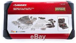 Mécanique Tool Set W Case 268 Pièces Sae Husky Métriques Douilles Clés Kit De Réparation