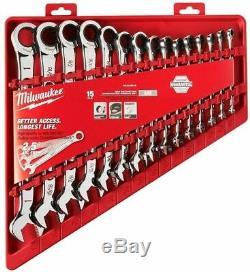 Milwaukee 48-22-9416 15pc Ratcheting Combinaison Jeu De Clés Sae Nouveau