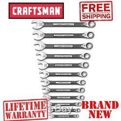 Nouveau Craftsman 12 Pc. Metric Universal Wrench Set Tight Grip Anti-rouille Sans Épreuve
